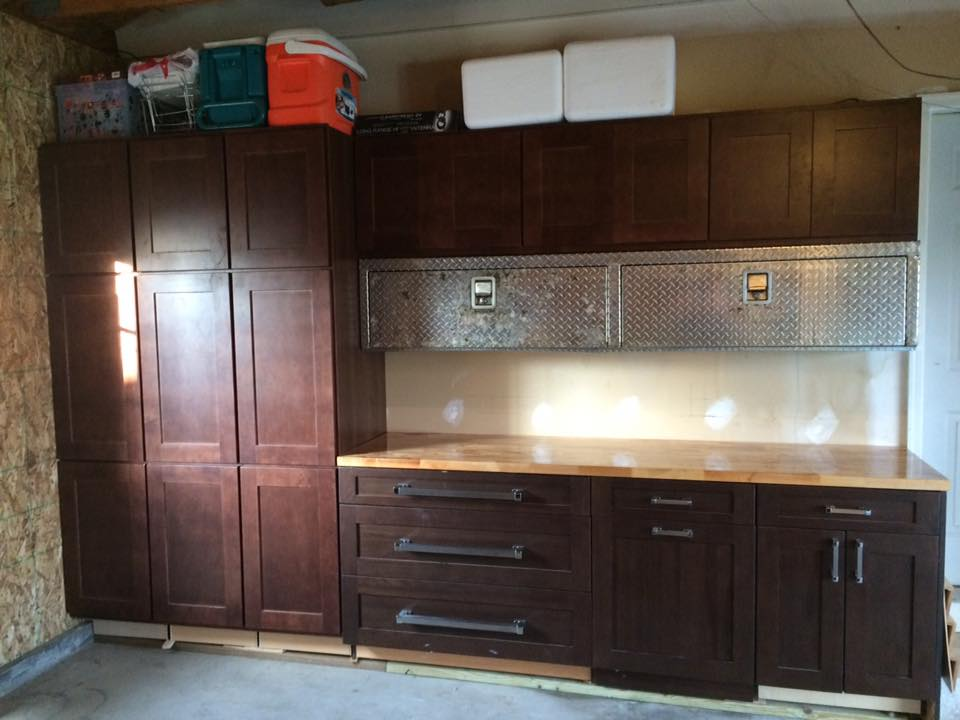 Miscellaneous Smart Cabinets & discontinued Executive cabinetry display with hardware, all purchased from the Outlet.