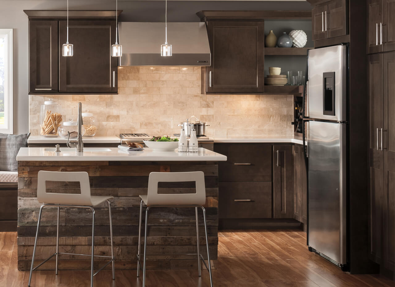 awesome white kitchen cabinets dark floors | Light Side vs Dark Side: What Cabinet Color is Right for ...