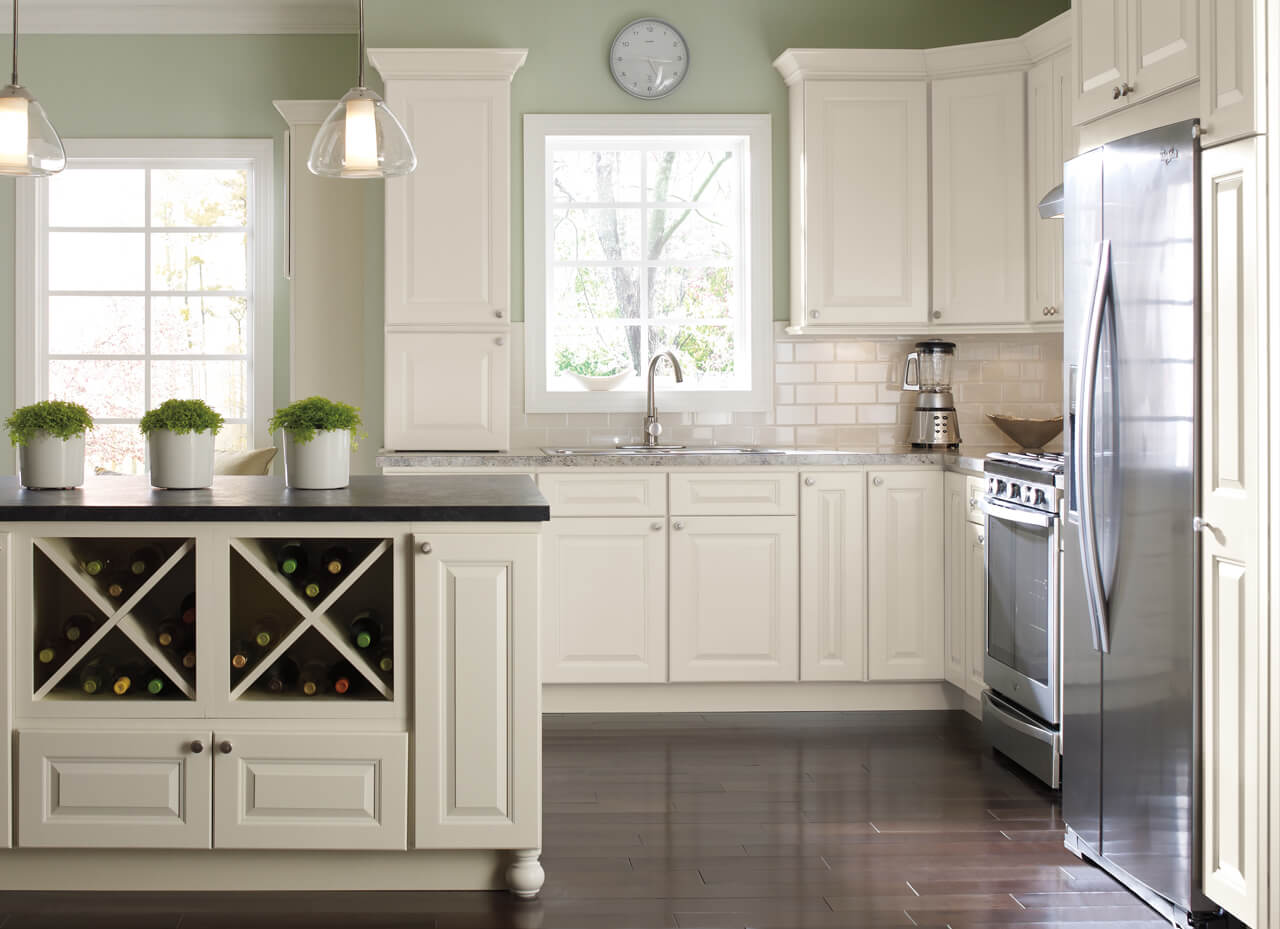 amusing green kitchen paint colors white cabinets | Light Side vs Dark Side: What Cabinet Color is Right for ...